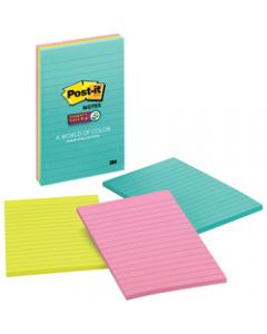 Post-It 4645-3SSMIA Super Sticky Notes 101x152mm Lined Miami Pack of 3