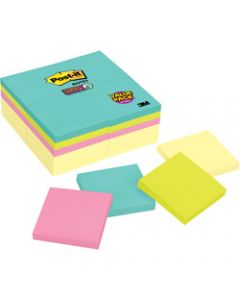 Post-It 654-24SSCYM Super Sticky Notes 76x76mm Miami Pack of 24