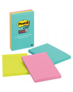 Post-It 660-3SSMIA Super Sticky Notes 101x152mm Lined Miami Pack of 3