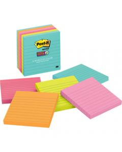 Post-It 675-6SSMIA Super Sticky Notes 100x100mm Lined Miami Pack of 6