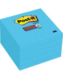 Post-It 654-5SSBE Super Sticky Notes 76x76mm Electric Blue Pack of 5 Pads