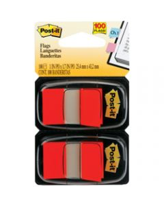 POST-IT FLAGS,680-RD2 25.4mm x 43.2mm,Red Twin Pack