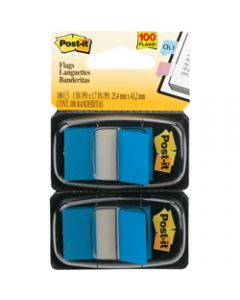 POST-IT FLAGS,680-BE2 25.4mm x 43.2mm,Blue Twin Pack