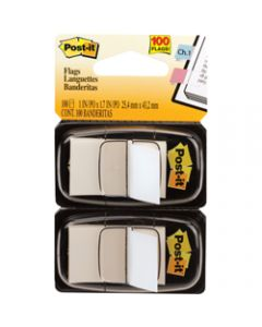 POST-IT FLAGS,680-WE2 25.4mm x 43.2mm,White Twin Pack