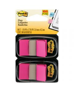 POST-IT FLAGS,680-BP2 25.4mm x 43.2mm,Pink Twin Pack