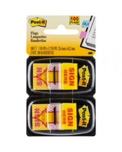 POST-IT FLAGS,680-SH2 11.9mm x 43.2mm,Yellow Pack of 100