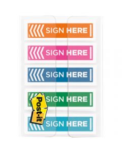 POST-IT FLAGS,684-SH-OPBLA Sign Here,Assorted Pack of 100