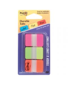 POST-IT DURABLE TABS,686-PGO 25mm x 38mm,Assorted Pack of 66