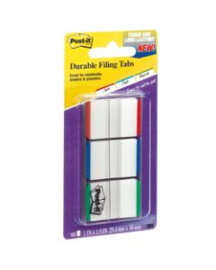 POST-IT DURABLE TABS,686L-GBR 25mm x 38mm,Assorted Pack of 66