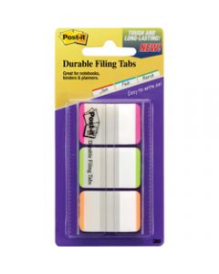 POST-IT DURABLE TABS,686L-PGO 25mm x 38mm,Assorted Pack of 66