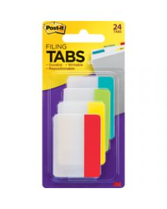 POST-IT DURABLE TABS,686-ALYR 50mm x 38mm,Assorted Pack of 24