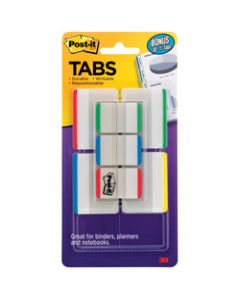 POST-IT DURABLE TABS,686-VAD1 25mm x 50mm,Assorted Value Pack of 114
