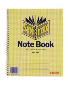SPIRAX NOTEBOOK,592 222mm x 178mm 120 Page,Side Opening