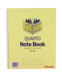 SPIRAX NOTEBOOK,593 Quarto 120 Page,Side Opening