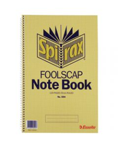 SPIRAX NOTEBOOK,594 Foolscap 120 Page,Side Opening