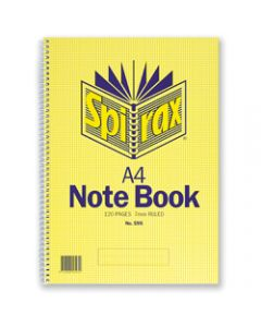 SPIRAX NOTEBOOK,595 A4 120 Page,Side Opening
