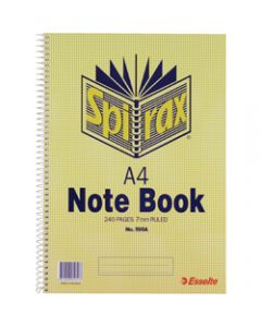 SPIRAX NOTEBOOK,595A A4 240 Page,Side Opening
