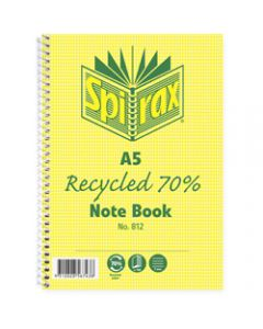 SPIRAX RECYCLED NOTEBOOK,812 A5 120 Page,