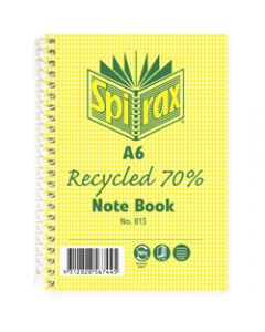 SPIRAX NOTEBOOK RECYCLED,813 A6 100 Page,