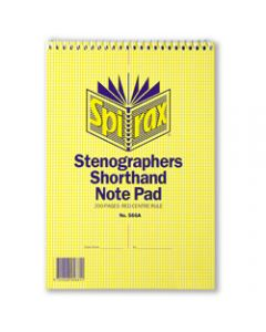 SPIRAX NOTEBOOK STENOGRAPHERS,566A 225mm x 152mm 200 Page,Top Opening
