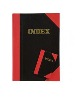 CUMBERLAND NOTEBOOK A4 100 Leaf Indexed Red And Black