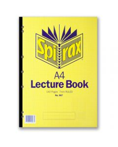 SPIRAX LECTURE PAD,907 A4 140 Page,Side Opening