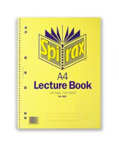 SPIRAX LECTURE BOOK,906 A4 140 Page,Side Opening