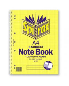 SPIRAX SUBJECT BOOK,599 A4 300 Page 3 Subject,