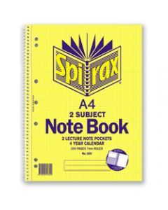 SPIRAX SUBJECT BOOK,605 A4 250 Page 2 Subject,