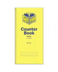 SPIRAX COUNTER BOOK,543 297mm x 135mm 120 Page,Side Opening