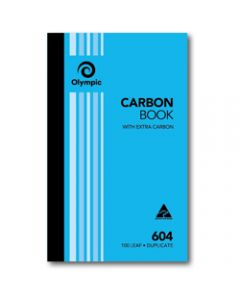OLYMPIC CARBON BOOK,604 Duplicate 200mm x 125mm,100 Leaf