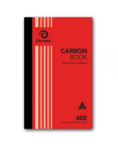 OLYMPIC CARBON BOOK,605 Triplicate 200mm x 125mm,100 Leaf