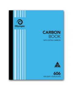 OLYMPIC CARBON BOOK,606 Duplicate 250mm x 200mm,100 Leaf