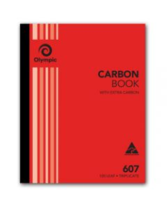 OLYMPIC CARBON BOOK,607 Triplicate 250mm x 200mm,100 Leaf