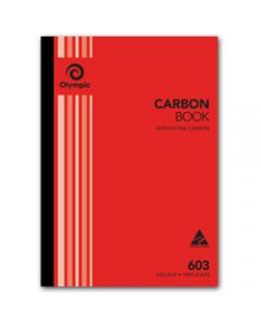 OLYMPIC CARBON BOOK,603 Triplicate A4,100 Leaf