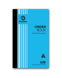 OLYMPIC CARBON BOOK,638 Duplicate 200mm x 125mm,Order 100 Leaf