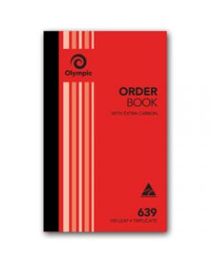 OLYMPIC CARBON BOOK,639 Triplicate 200mm x 125mm,Order 100 Leaf