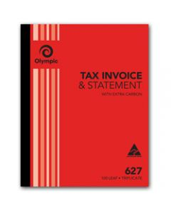 OLYMPIC CARBON BOOK,627 Triplicate 250mm x 200mm,Invoice Statement 100 Leaf