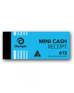 OLYMPIC CARBON BOOK,613 Duplicate 50mm x 125mm,Cash Receipt 100 Leaf