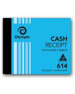 OLYMPIC CARBON BOOK,614 Duplicate 100mm x 125mm,Cash Receipt 100 Leaf