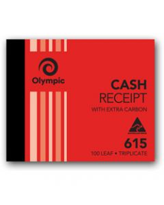 OLYMPIC CARBON BOOK,615 Triplicate 100mm x 125mm,Cash Receipt 100 Leaf