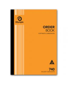 OLYMPIC CARBONLESS BOOK,740 Duplicate A4 297mm x 210mm,Order 50 Leaf