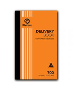 OLYMPIC CARBONLESS BOOK,700 Duplicate 200mm x 125mm,Delivery 50 Leaf