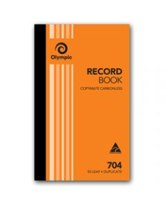 OLYMPIC CARBONLESS BOOK,704 Duplicate 200mm x 125mm,Record 50 Leaf