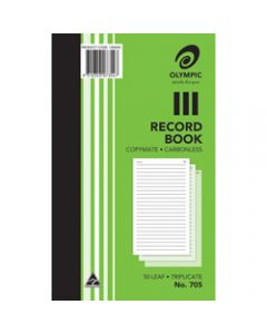 OLYMPIC CARBONLESS BOOK,705 Triplicate 200mm x 125mm,Record 50 Leaf