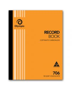 OLYMPIC CARBONLESS BOOK,706 Duplicate 250mm x 200mm,Record 50 Leaf
