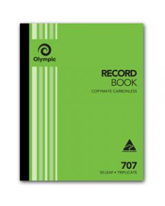 OLYMPIC CARBONLESS BOOK,707 Triplicate 250mm x 200mm,Record 50 Leaf