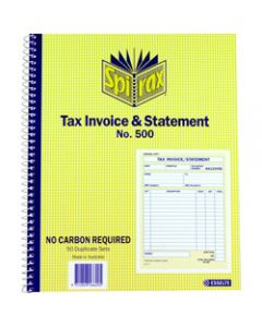 SPIRAX BUSINESS BOOK,500 Tax Invoice and Statement,Quarto