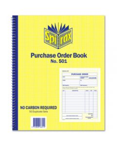 SPIRAX BUSINESS BOOK,501 Purchase Order Quarto,Side Opening