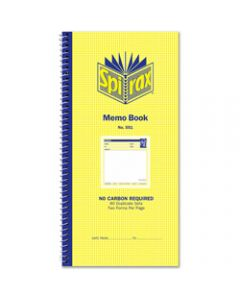 SPIRAX BUSINESS BOOK,551 Memo 279mm x 144mm,Carbonless Side Opening